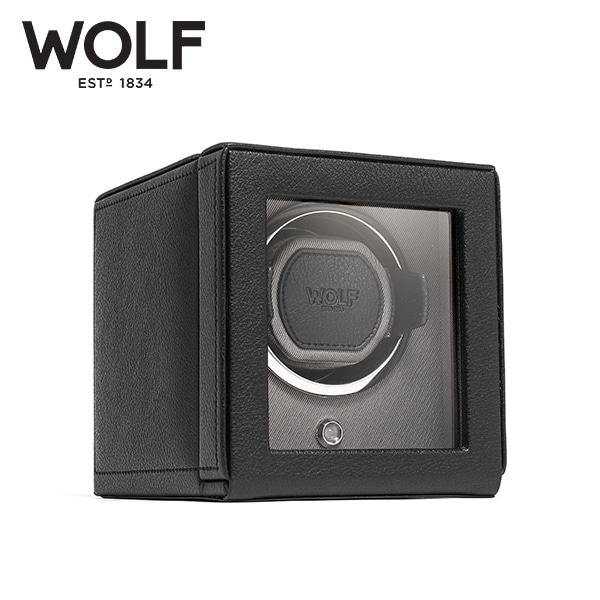 [울프 WOLF] 461103 (Cub Winder w Cover Blk) / 워치와인더 Watch Winder 타임메카