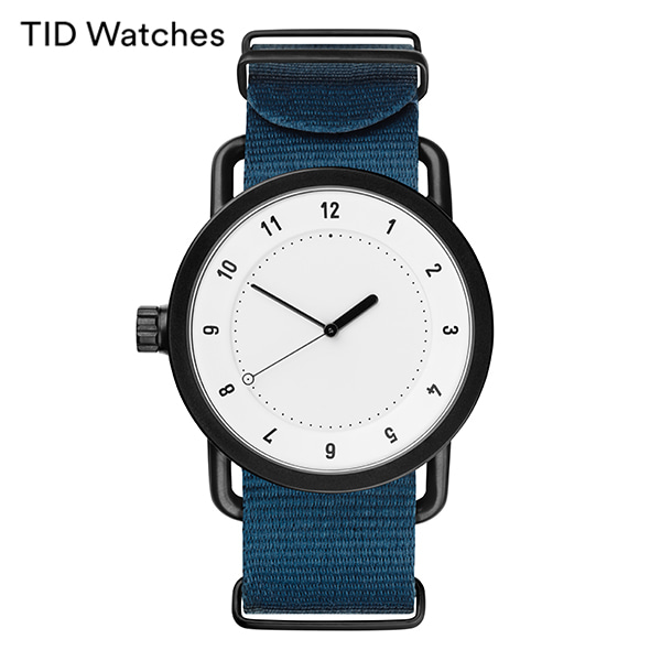 [티아이디 TID] No.1 White / Blue Nylon Wristband 40mm, 36mm 남여공용시계