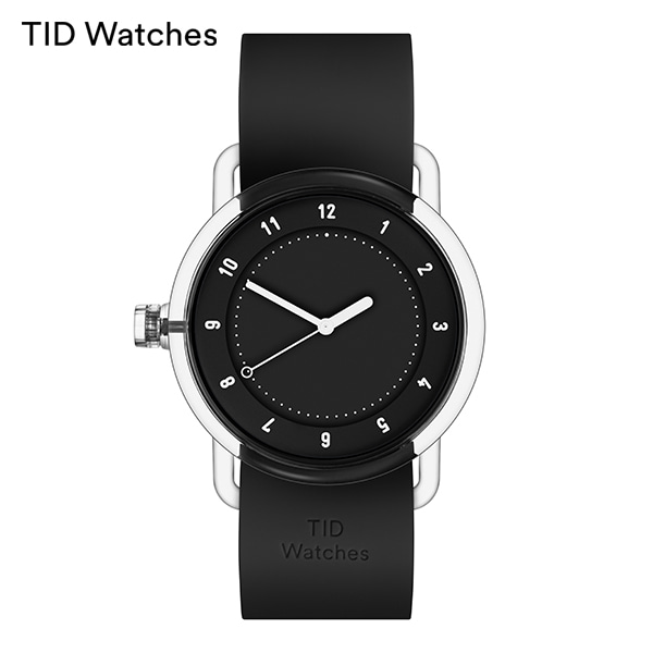 [티아이디 TID] No.3 TR90 Black / Black Silicone 38mm 남여공용시계