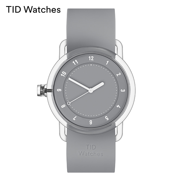 [티아이디 TID] No.3 TR90 Grey / Grey Silicone 38mm 남여공용시계