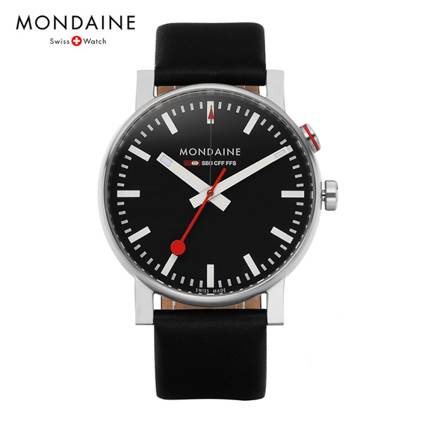 [몬데인시계 MONDAINE] A468.30352.14SBB / Evo Big Alarm Black 40mm 타임메카