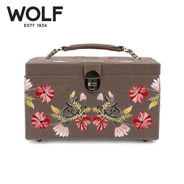 [울프 WOLF] 393113 (ZOE MEDIUM JEWELRY CASE  MINK) 보석함 Jewel Box 타임메카