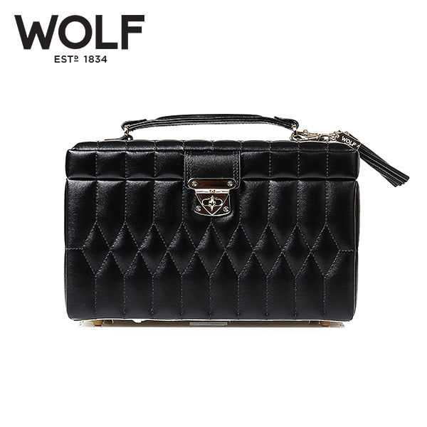 [울프 WOLF] 329771 (Caroline Medium Box Black) / 보석함 Jewel Box 타임메카