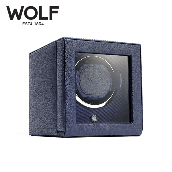 [울프 WOLF] 461117 (Cub Winder w Cover Navy) / 워치와인더 Watch Winder 타임메카