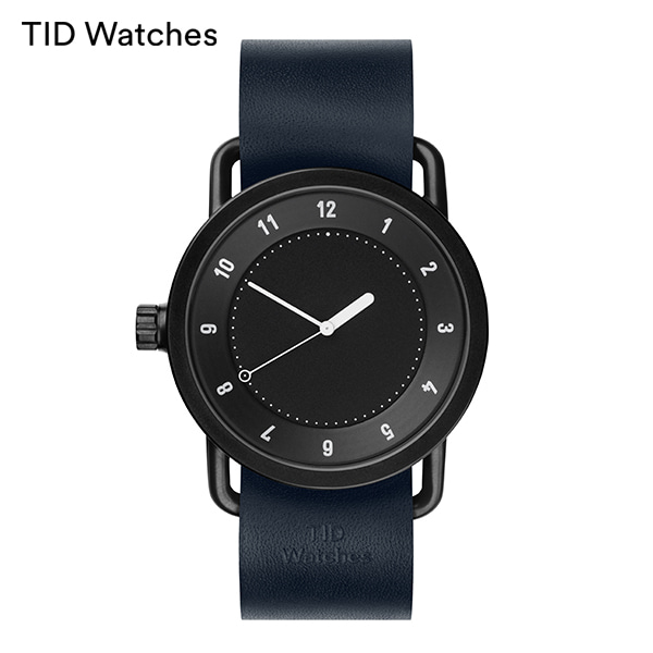 [티아이디 TID] No.1 Black / Navy Leather 40mm, 36mm 남여공용시계