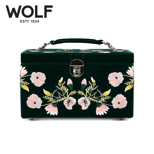 [울프 WOLF] 393112 (ZOE MEDIUM JEWELRY CASE  FOREST GREEN) / 보석함 Jewel Box 타임메카