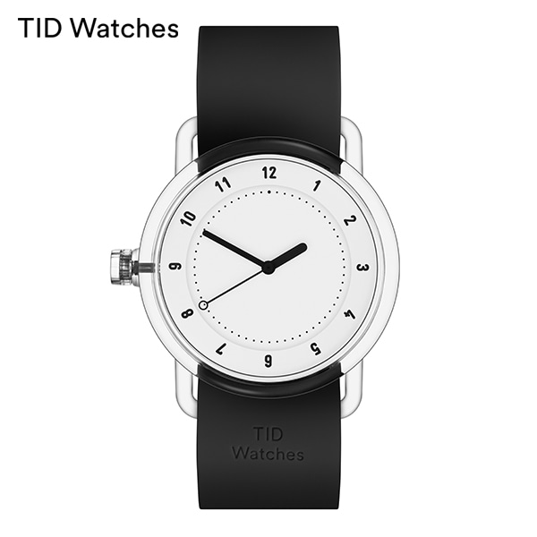 [티아이디 TID] No.3 TR90 White / Black Silicone 38mm 남여공용시계