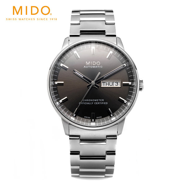 [미도 MIDO] M021.431.11.061.00 (M0214311106100) / COMMANDER II CHRONOMETER 남성용 40mm 타임메카
