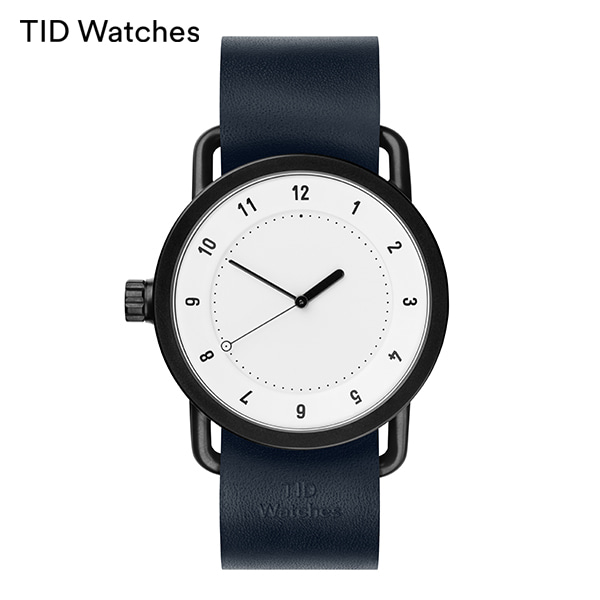 [티아이디 TID] No.1 White / Navy Leather 40mm,36mm 남여공용시계