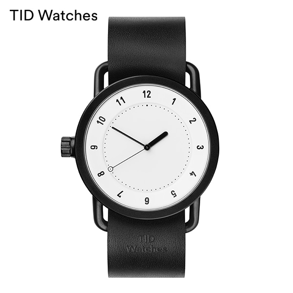 [티아이디 TID] No.1 White / Black Leather 40mm,36mm 남여공용시계