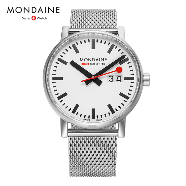 [몬데인시계 MONDAINE] MSE.40210.SM / Swiss Railways Evo2 40mm 타임메카