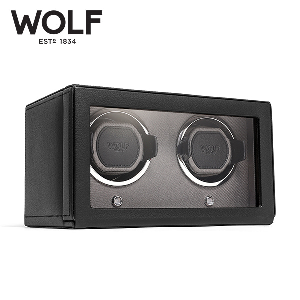 [울프 WOLF] 461203 Double (Cub Winder w Cover Blk) / 워치와인더 Watch Winder 타임메카