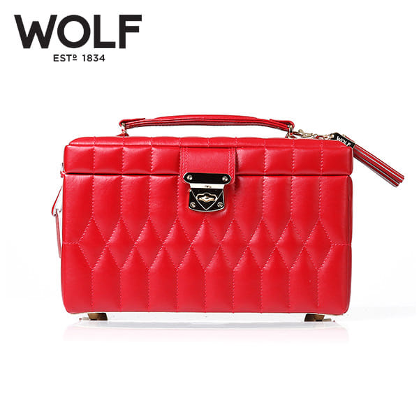 [울프 WOLF] 329772 (Caroline Medium Box Red) / 보석함 Jewel Box 타임메카