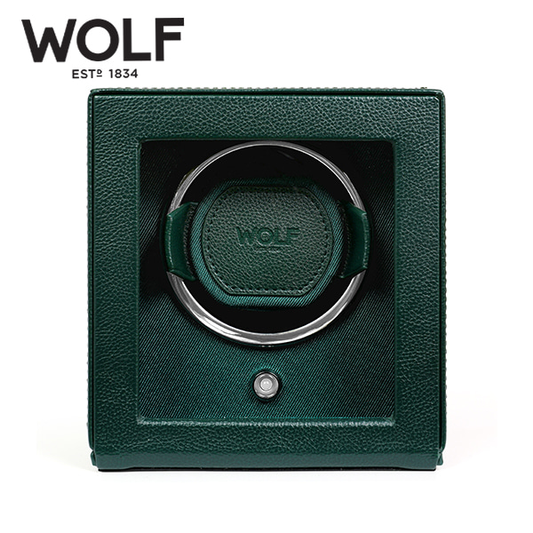 [울프 WOLF] 461141 (CUB WINDER W COVER GREEN) 워치와인더 Watch Winder 타임메카