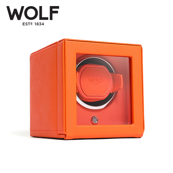 [울프 WOLF] 461139 (Cub Winder w Cover Orange) / 워치와인더 Watch Winder 타임메카