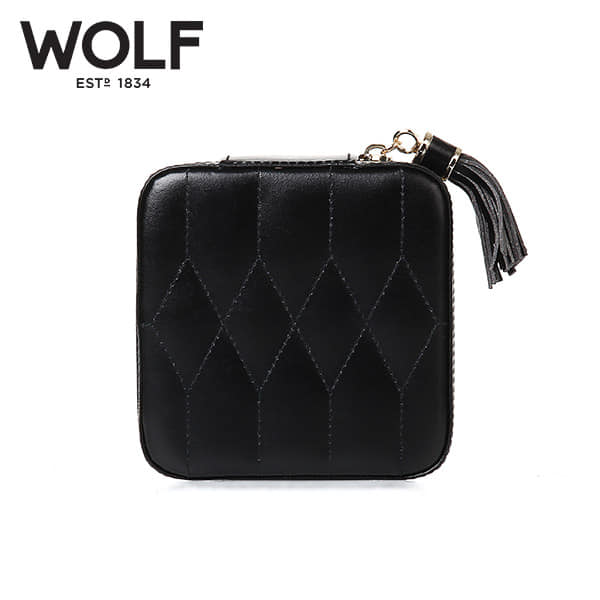[울프 WOLF] 329971 (Caroline Zip Case Black) / 보석함 Jewel Box 타임메카